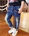 Новый горячий продажа весна осень и зимой дети джинсы мальчик детские брюки джинсовые одежда мальчики брюки размер: 3-14 лет розничная