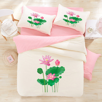 Personality Trend Of The 3d Ink Oil Painting 100 Cotton Print Bedding Four Piece Set