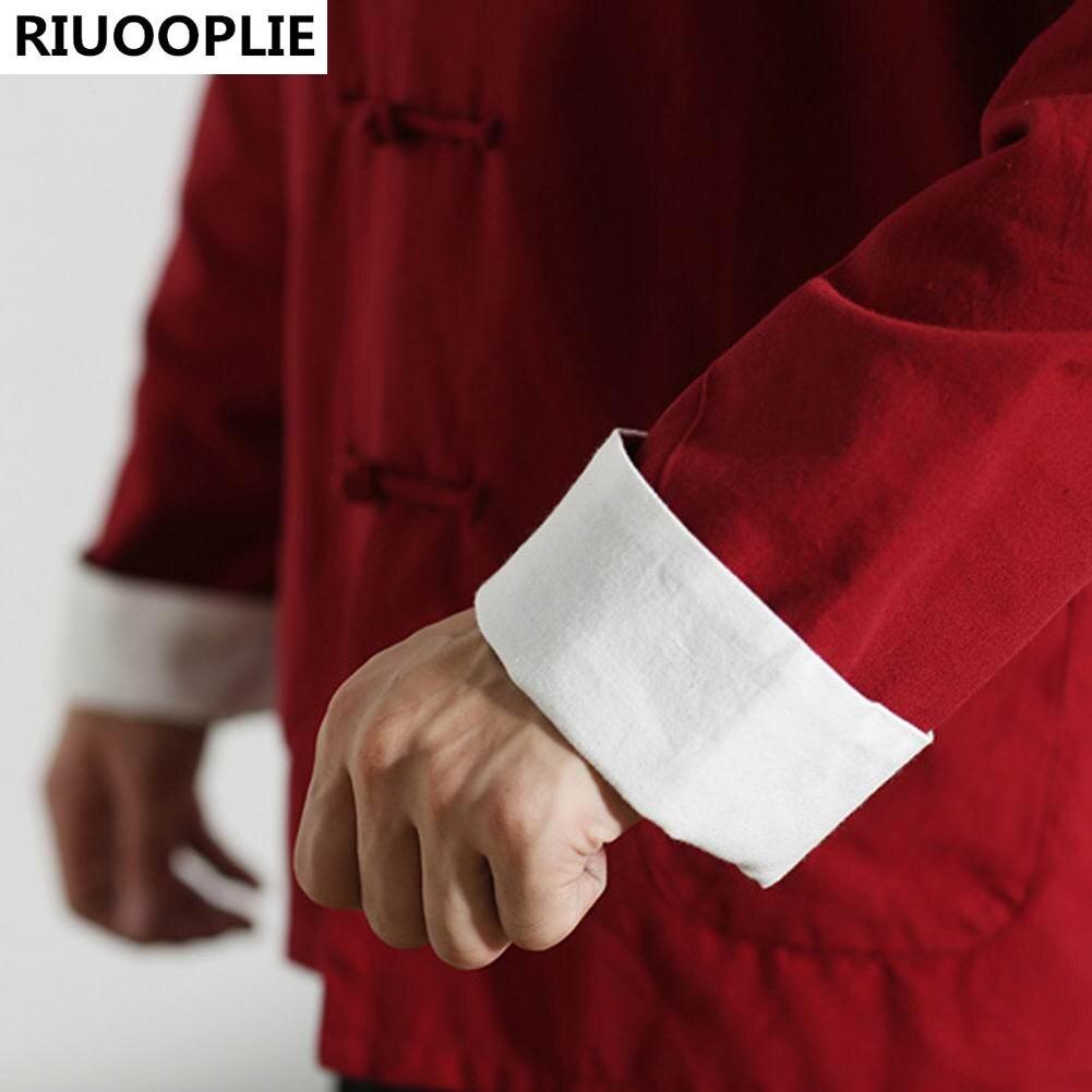 RIUOOPLIE långärmad dubbelsidig traditionell kinesisk kläder Tang - Nationella kläder - Foto 6