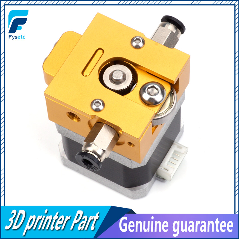 1Set Gold DIY Reprap Bulldog All-metal Extruder For 1.75mm Compatible J-head MK8 Extruder Remote Proximity For 3D Printer Parts robotdigg bulldog extruder