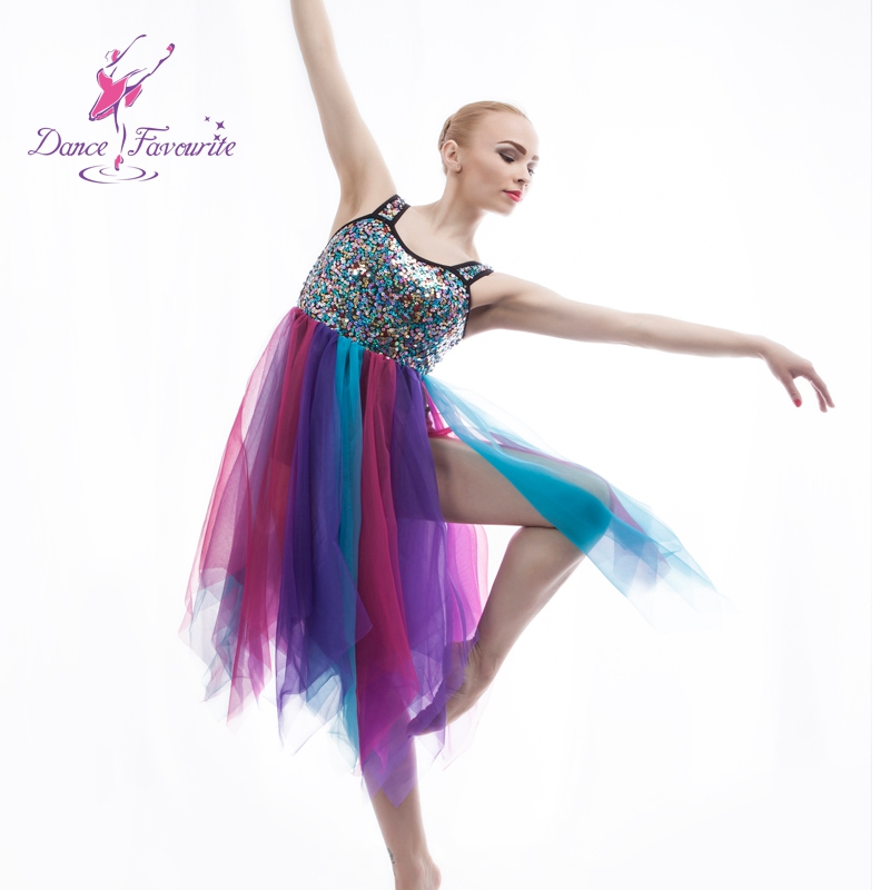 sequie Lyrical dress for stage or performance women contemporary Ballet dress lady dance costume girl dance costume ballet dress