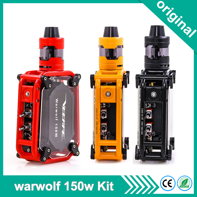 US $35 64 33% OFF|Original Veeape warwolf Electronic Cigarette Kit 3500mAh  battery 50w 100w 150w vape mod Laser Box Mod vaper Kit For 510 Thread-in