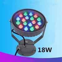Free Shipping 6W LED Flood Light AC85 265V Flash Landscape Lighting 560LM Round