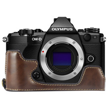 limitX Pu Leather Case Bottom Opening Version Protective Half Body Cover Base For Olympus OMD EM5 OM D E M5 Mark II 2 Camera