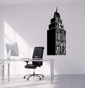 Image 1 - Decalques de parede vinil oferta bem sucedida construção escritório arte comercial adesivo mural 2bg14