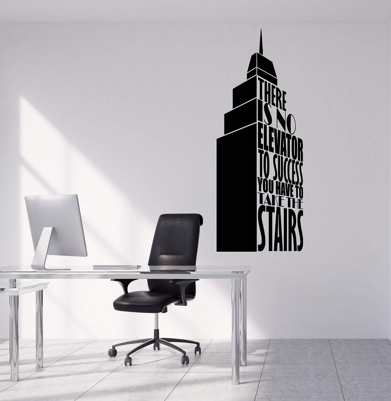 Vinyl wall decals successful offer construction office commercial art sticker mural 2BG14-in Wall Stickers from Home & Garden