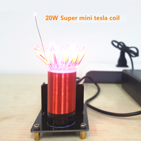 Stark 20W Wireless Transmission Test Super Mini Tesla Coil Small Technology Production Teflon Tube Tesla Coil