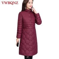 Winter Women Coat Plus Size 4XL Warm Down Cotton Women Outerwear Korean Slim Thin light Middle aged Female Casual Jacket Coat