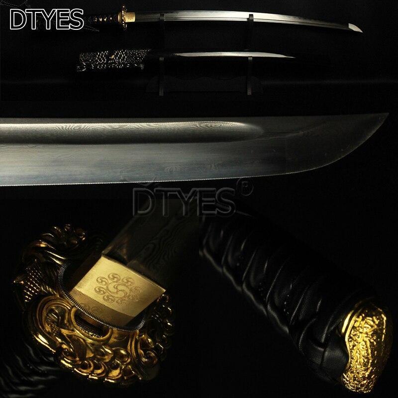 Дамасская сталь ГЛИНА ЗАКАЛЕННОЕ очевидный Хамон Мару лезвие катаны самурая японский меч ручной работы настоящий меч катана Битва готов