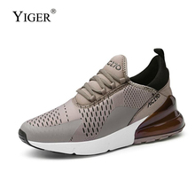YIGER New Men sports shoes men Breathable running Male fashion Sneakers man casual sneakers large size Mesh  0304