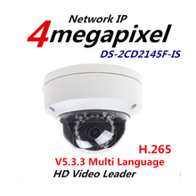 Hik DS-2CD2145F-IS same as english model DS-2CD2142FWD-IS H265 IP network dome poe cameras audio 4MP CCTV IPC