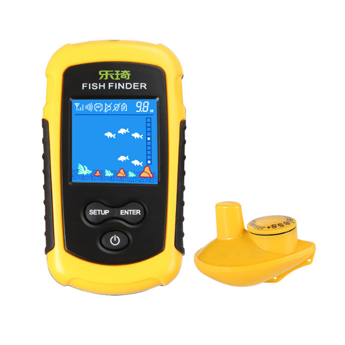 Free Shipping Portable Wireless Sonar Fish Finder 125 KHZ For Fishing 100M Sonar Portable LCD Fish Finders Fishing Locator Kit free shipping jabo 2bl 20ah 2 4ghz sonar fish finder bait boat for fishing tools with sonar fish finder