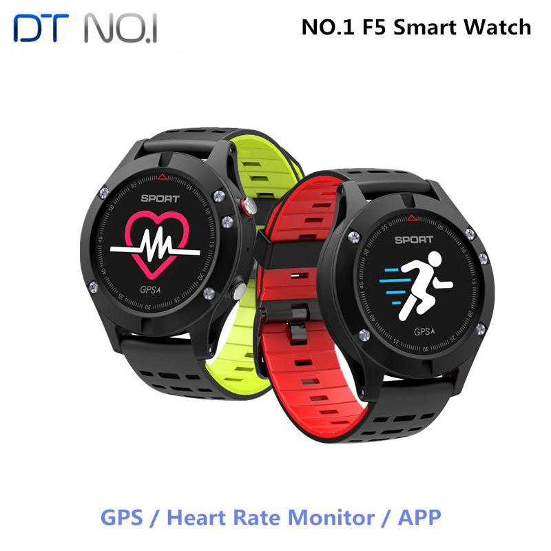 <font><b>NO.1</b></font> <font><b>F5</b></font> Smart Watch IP67 Heart Rate Monitor GPS Multi-Sport Mode OLED Altimeter Bluetooth Fitness Tracker Android iOS waterproof image
