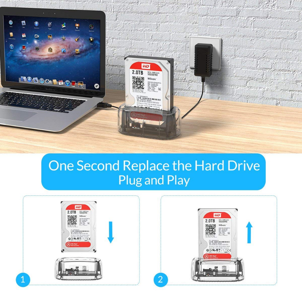 ՕՐԻԿՈ թափանցիկ 2.5 / 3.5 դյույմ սաթսա USB - Արտաքին պահեստավորման սարքեր - Լուսանկար 5