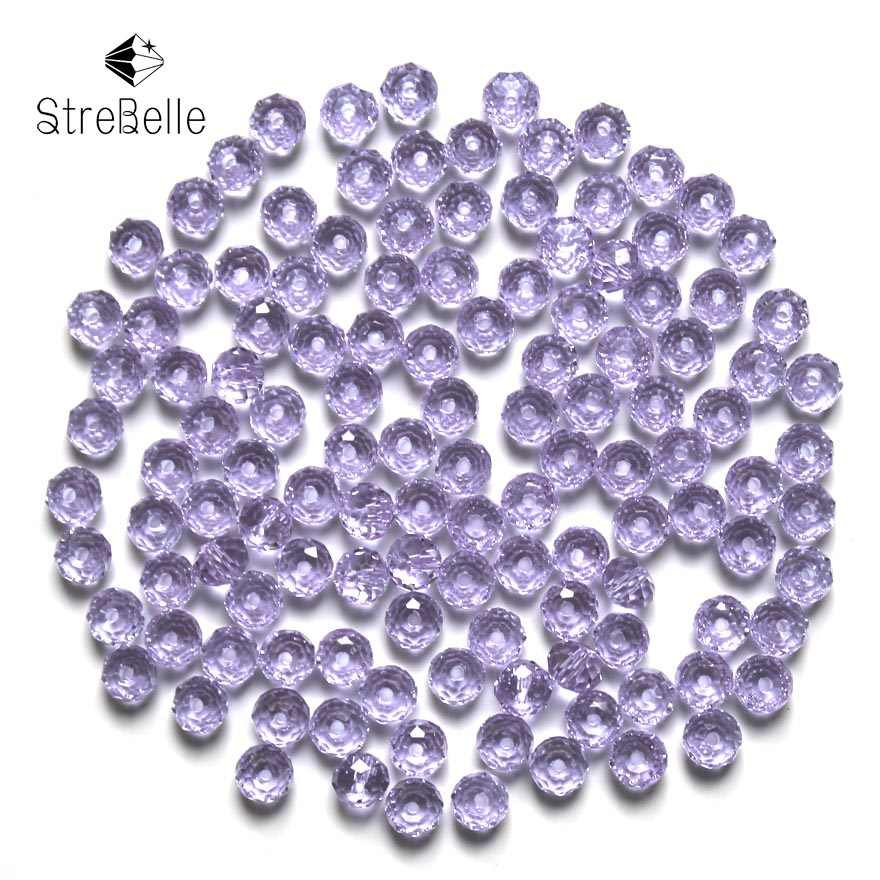Bahasa Swedia Benih Rondelle Beads 200 Pcs/lot 3X4 Mm Kristal DIY Perhiasan Faceted 5040 Kaca Kristal Manik-manik