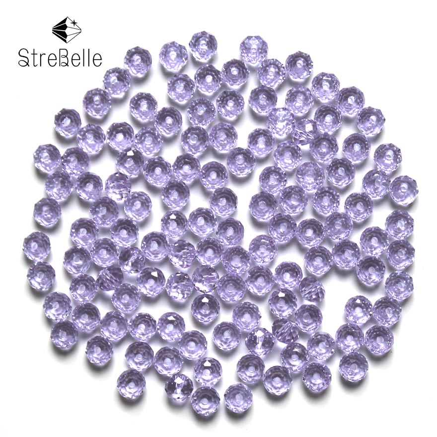 Czech Seed Rondelle Beads 200pcs lot 3x4mm Faceted Crystal DIY Jewelry Faceted 5040 Glass Crystal Beads