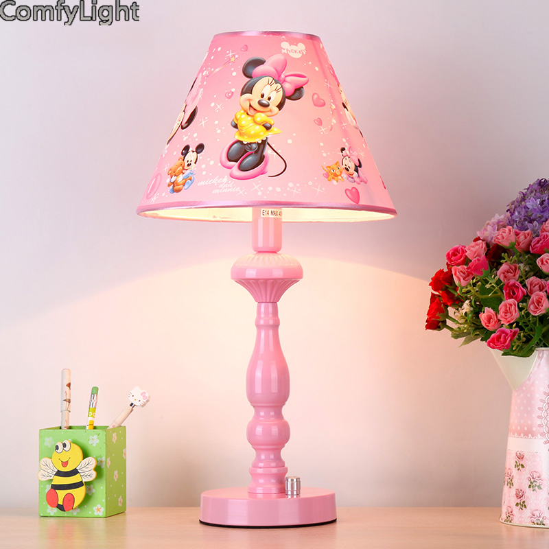 Girl cartoon pink desk lamp led night light Cute Home desk Ornament table Decoration lamp kids Children Baby girl Birthday Gifts factory exports metal green eco friendly beautiful home decoration desk lamp ce