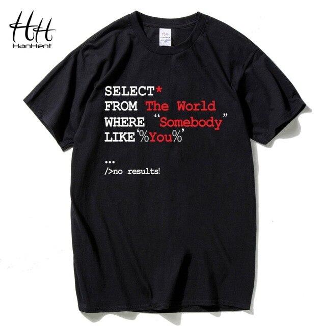 53a84c353 HanHent Funny Programming T-shirts Male Cotton Short Sleeve Tee shirt Geek  2018 Creative Nerd T shirts Customized Shirts TH5424