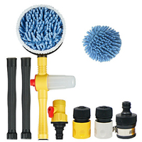 1 Set Of Automatic Car Wash Foam Brush Professional Spray Rotating Brush Portable Automatic Cleaning Tool Washing Switch Water