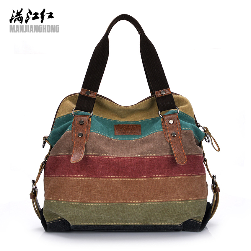 2017 Women Canvas Tote Bag Patchwork Lady Shoulder Bags Fashion Striped Girls Handbags Sac A Main Female De Marque Bolsos Mujer kvky brand canvas bag tote striped women handbags woman shoulder bag new fashion sac a main femme de marque casual bolsos mujer