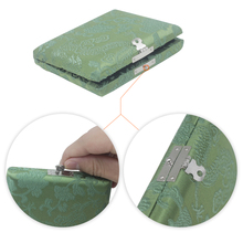 1pcs Wooden Oboe Reed Case Holder Box Covered by Beautiful Silk Cloth for 6pcs Oboe Reeds Colorful Choose