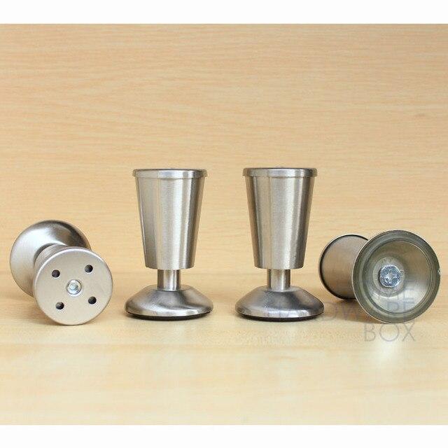 4 stücke metall edelstahl beine möbel küchenschrank füße 4\