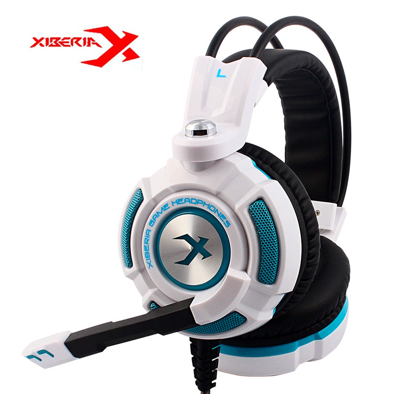 Xiberia K3 Gaming Headphone Virtual 7.1 Surround Stereo Bass Light Vibration Gaming Headset With Mic For PC Gamer each g8200 pro 7 1 surround sound usb vibration function gaming headset stereo bass gamer headphone with mic led light for pc