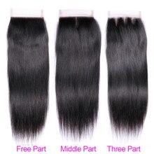 Brazilian Human Hair Weave Bundles With Closure Non Remy