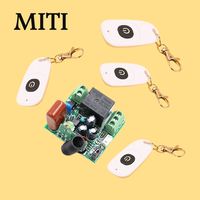 MITI AC220V RF Wireless Mini Switch Relay Receiver Remote Controllers For Light Switch Momentary Toggle Latched