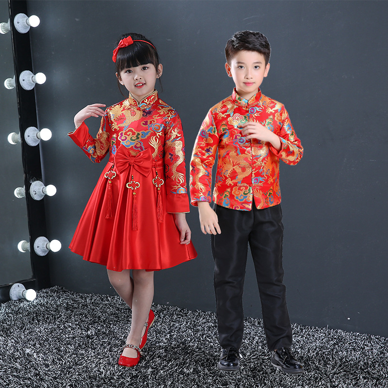 b0fa2eb8e18 2019 Children China Dress Of The Tang Dynasty Chinese Traditional ...