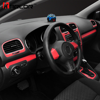 Automobiles Carbon Fiber Central Control Dashboard Panel Sticker Decal Car Styling For Volkswagen VW Golf 6 MK6 GTI Accessories