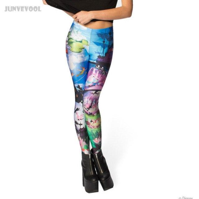 Lycra Spandex Pants Color Gradient Leggings Elastic Work Out Runnings Pants Women's Cartoon Anime Printed Tattoo Trousers Ladies