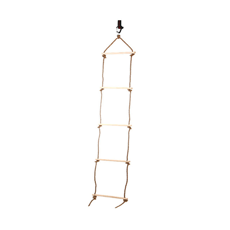 5 échelons en bois Pe corde échelle enfants escalade jouet enfants Sport corde Swing sûr Fitness jouets équipement intérieur extérieur jardin Ne
