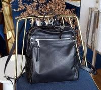 Genuine Leather Backpack Large Capacity Women Travel Backpack For Girl Design Casual Waterproof Laptop Backpack School