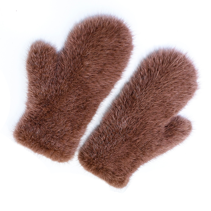 Women s Real Genuine Knitted Mink Fur Winter Fingerless Gloves Elastic Net Mittens Arm Warmer 6