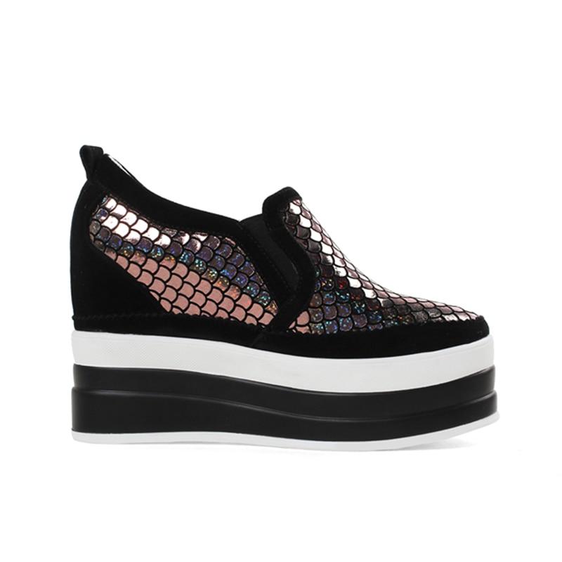 Elástica Negro Tamaño De gris Calzado Gran 32 Bombas 40 Ribetrini Mujer Negro Banda Aumento 2019 Cuero Genuino Zapatos 7pOwnqg