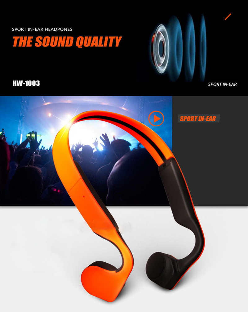 Bone Conduction Stereo Wireless Bluetooth Headphones waterproof sports Hifi headsets with microphone Support Hands Free Call  (12)