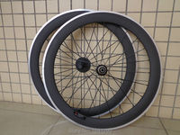 1pair New 700C 60mm Clincher Rims Road Bicycle Matt 3K Carbon Bike Wheelset With Alloy Brake
