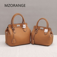 MZORANGE New 2018 2 Size Fashion Design Classic Small Tote Popular Women Genuine Leather Handbags Messenger
