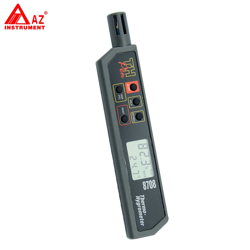 ФОТО AZ8709 Simultaneously Display Temperature Humidity Tester Pen Hygro-thermometer
