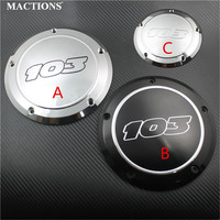 Black Chrome 103 Derby Cover Clutch Timing Timer Cover For Harley Touring Road King Dyna Softail Deluxe 2016 Before