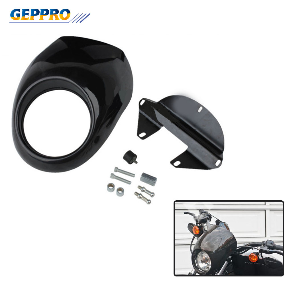 Motorcycle Accessories ABS Plastic Lampshade Headlamps Round Headlight Cover Hood Cover Shell For Harley XL883 XL1200