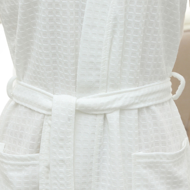 6a1a4d455e Tony Candice Couples Bathrobes Waffle Towel Material Women Robe Dress Men  Three Quarter bathrobe V Neck kimono Lovers Nightgowns-in Robes from  Underwear ...