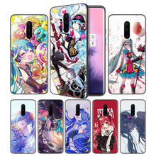 Anime Hatsune Miku Vocaloid Soft Black Silicone Case Cover for OnePlus 6 6T 7 Pro 5G Ultra-thin TPU Phone Back Protective