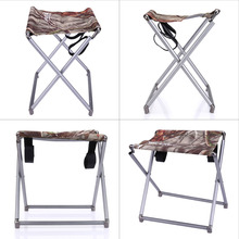 Portable Lightweight Folding Fishing Picnic BBQ Garden Chair Aluminum Alloy  Square Outdoor Stool For Camping Hiking