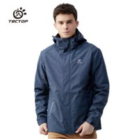 Winter Outdoor Thick Keep Warm Waterproof Windproof Wear resistant Hiking Camping Jackets Tectop Men's Shell Liner Two Pcs Coats