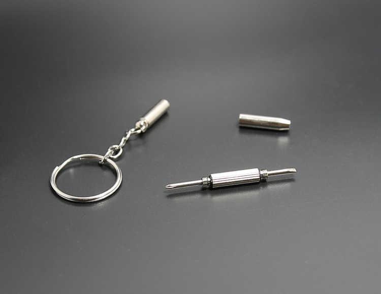 New thời trang Đa Chức Năng Ngoài Trời Công Cụ Kết Hợp Tuốc Nơ Vít Cầm Tay Mini Tiện Ích Túi Đa Công Cụ Keychain Vòng Chìa Khóa Clasp