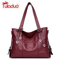 Women Shoulder Bag Casual Totes Bags Leather Big Ladies Handbag Female Soft Material Large Capacity Vintage