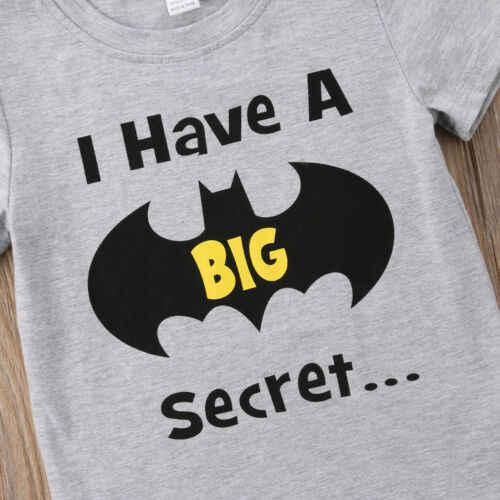Del cotone Del Bambino Del Bambino Del Bambino di trasporto del Ragazzo Batman Grande Fratello Top T-Shirt Casual Manica Corta O Collo Molle di Alta Qualità Vestiti di Estate