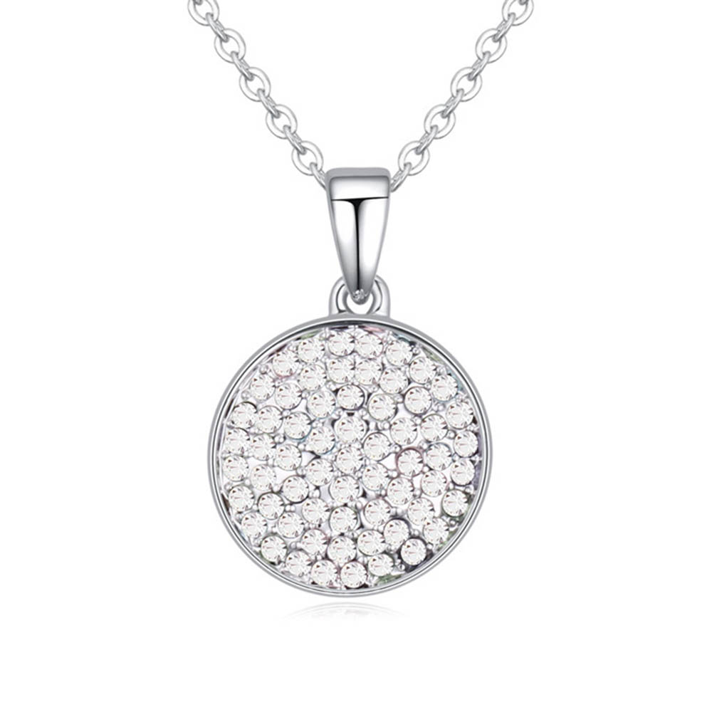 2016 New Arrival 4 colors Trendy Pendant Round Necklaces Made With Quality Czech crystal for Valentine's D gift